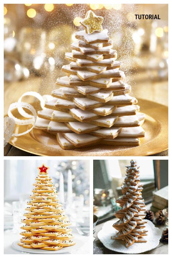 Christmas Recipe: White 3D Cookie Christmas Tree DIY Tutorial - Video