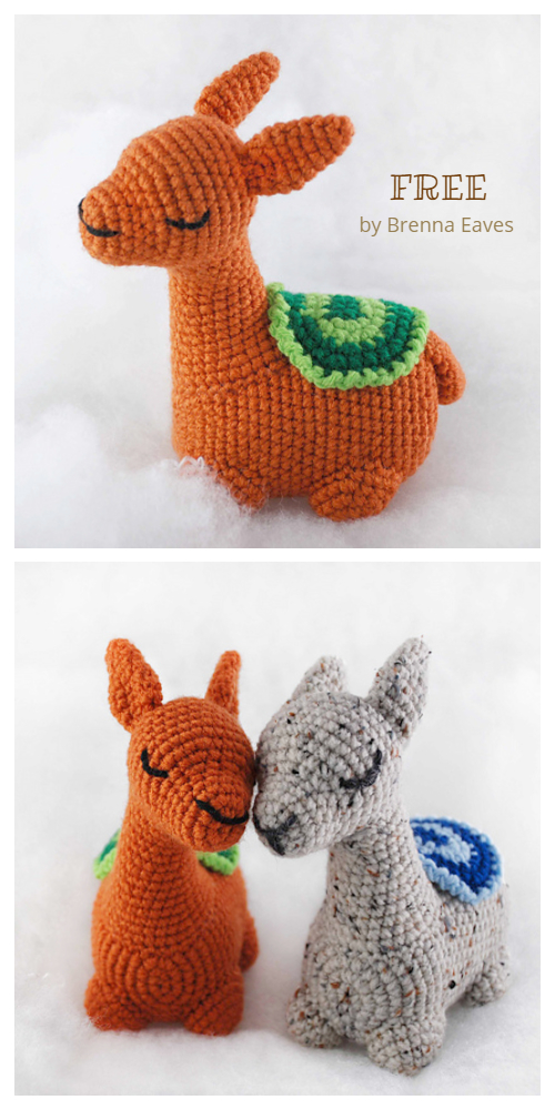 Free Amigurumi Llama Toy Softies Crochet Patterns | 1000x500