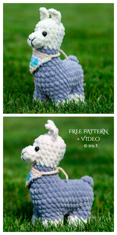 Amigurumi Llama - A Free Crochet Pattern - Grace and Yarn | 1000x500