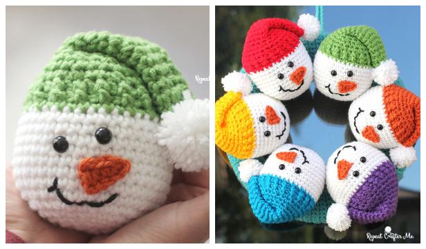 Crochet Snowman Heads   Christmas crochet patterns, Crochet ...   361x616