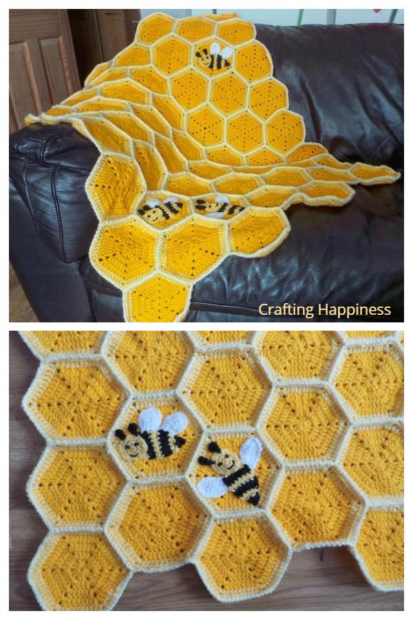Crochet Honeycomb Baby Blanket Crochet Pattern