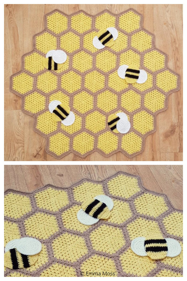 Busy Bumble Blanket Free Crochet Patterns