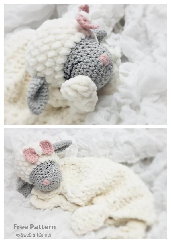 Little Mary Lamb Lovey Free Crochet Patterns