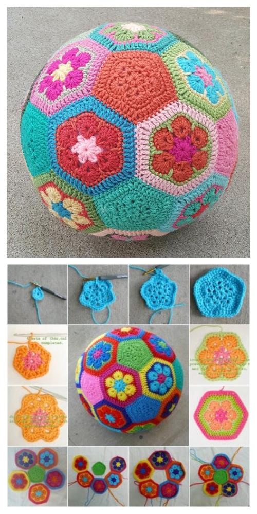 African Flower Ball Free Crochet Patterns