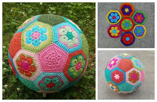 Crochet African Flower Ball Free Crochet Patterns