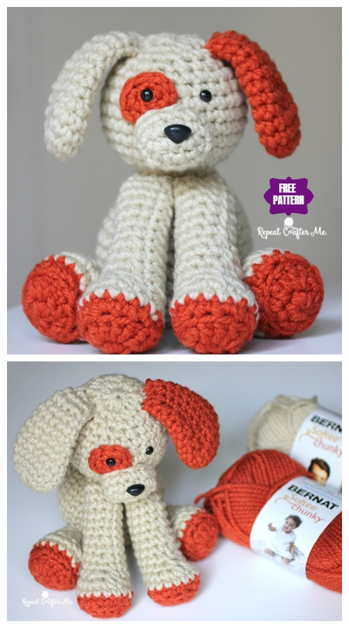 Amigurumi Plush Puppy Dog Toy Free Crochet Pattern