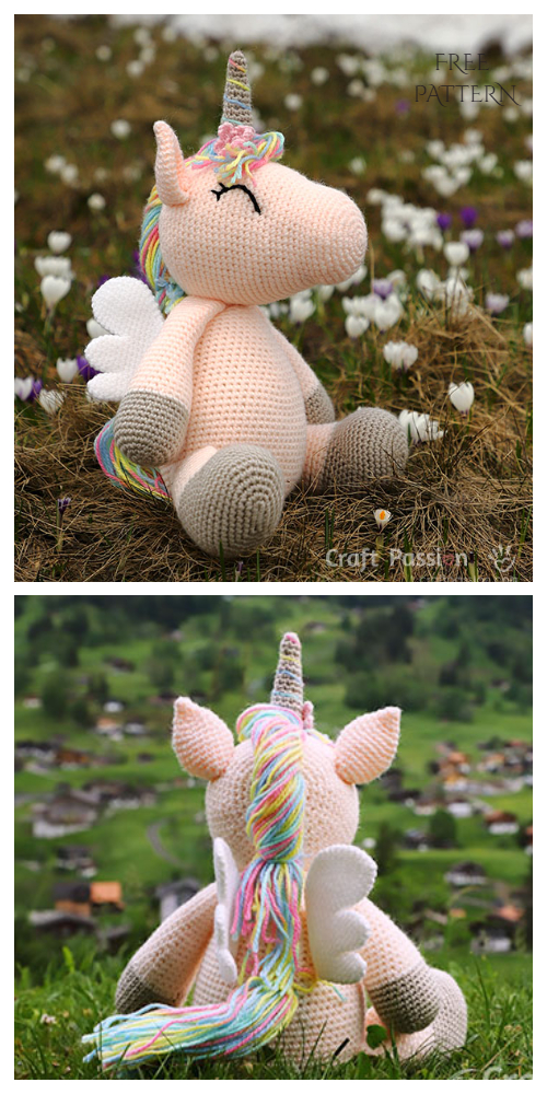 Crochet Winged Unicorn Toy Amigurumi Free Patterns
