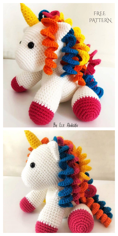 Crochet Baby Unicorn Toy Amigurumi Free Patterns