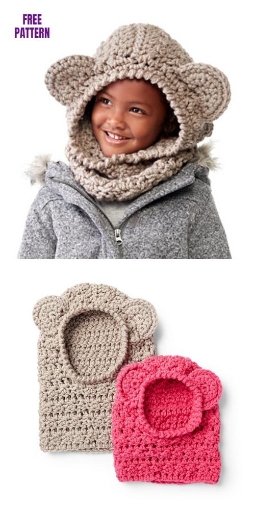 CrochetBear Hood Free Crochet Pattern