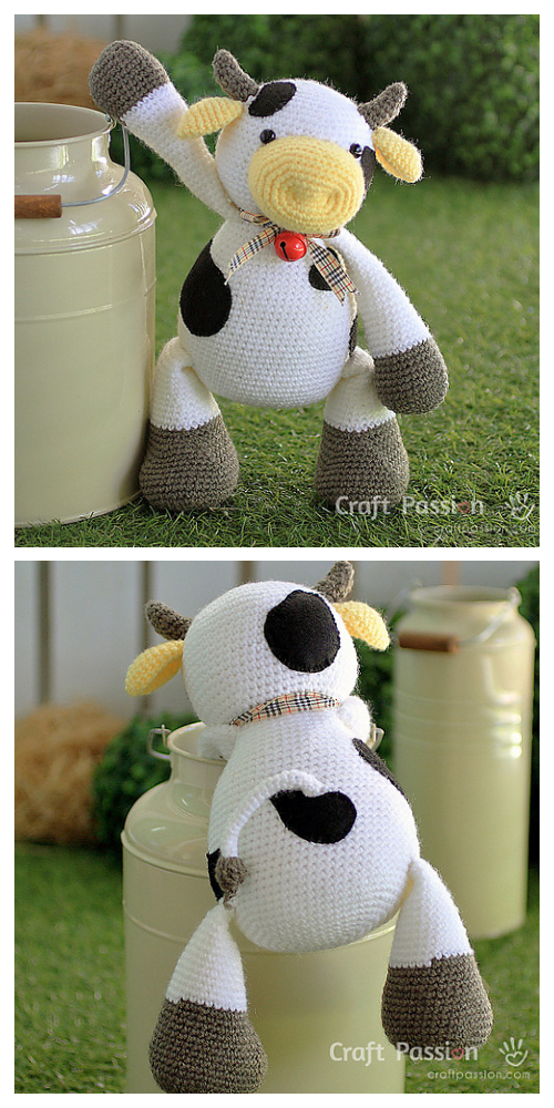 Crochet Cow Toy Amigurumi Free Patterns