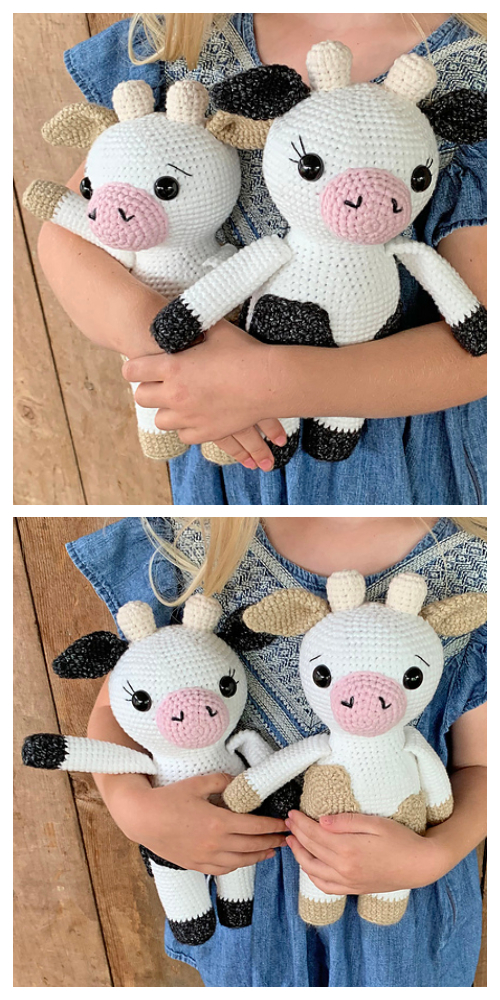 Crochet Cow Toy Amigurumi Free Patterns