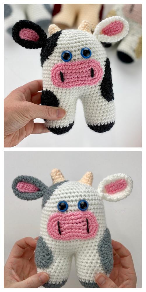 CrochetMooMoo Cow Toy Amigurumi Free Pattern