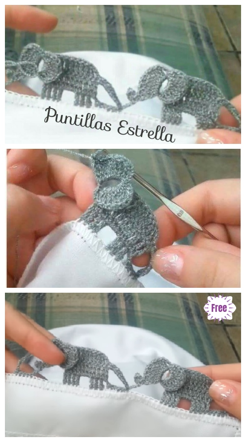 Crochet Elephant Edging Free Crochet Pattern
