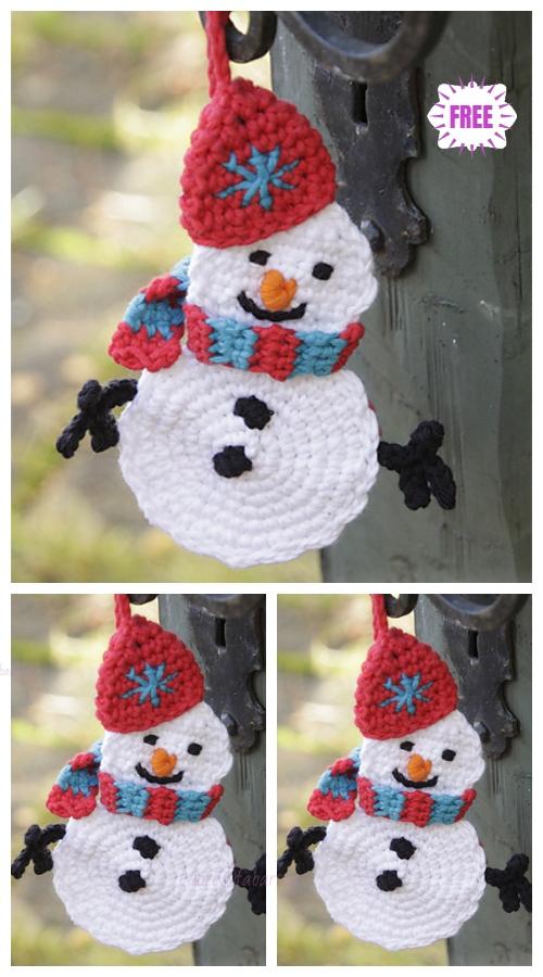 Crochet FlatOlafSnowmanOrnamentFree Crochet Pattern