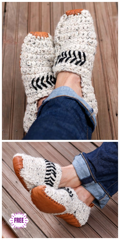 Crochet Lovers Outdoor Slippers Free Crochet Patterns - Saturday Slippers by Jess Coppom
