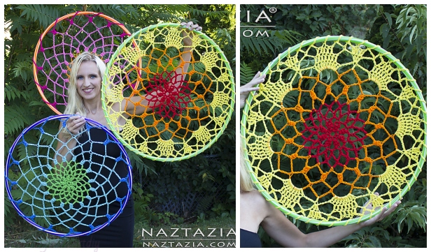 Crochet Mandala Dream Catcher Free Crochet Pattern - Video