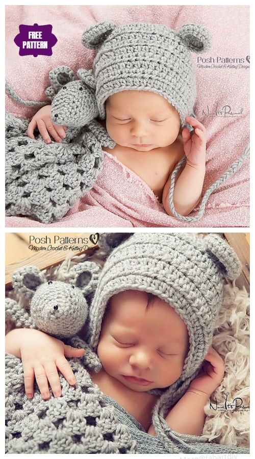 Crochet Baby Mouse Lovey Free Crochet Pattern