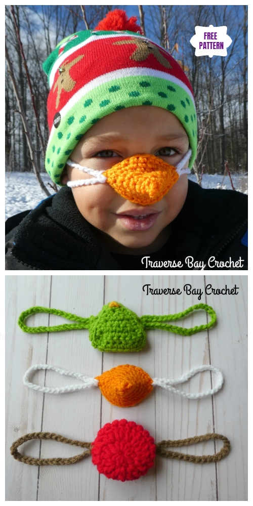 Crochet Holiday Nose Warmer Free Crochet Pattern