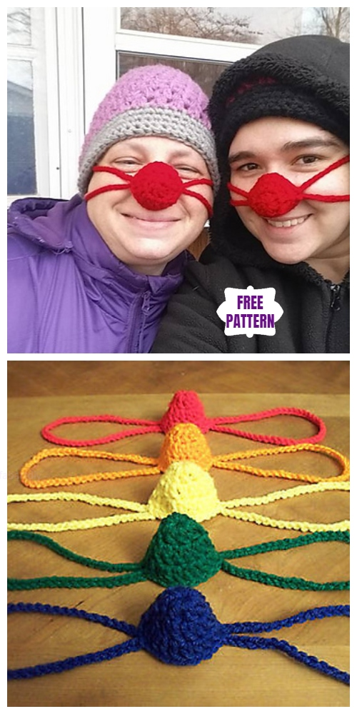 Crochet The Nifty NosE Warmers Free Crochet Pattern