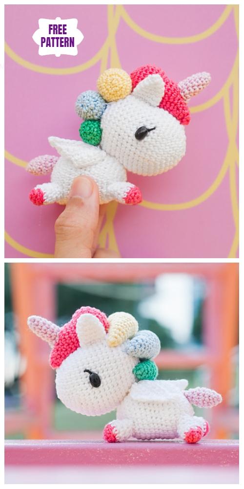 Crochet RainbowTokidoki Unicorno Amigurumi Free Pattern
