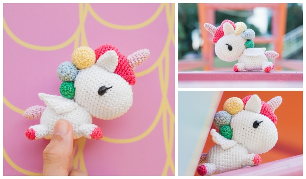 PATTERN: Candi the Unicorn, Crochet Unicorn Pattern, crochet horse ... | 361x616
