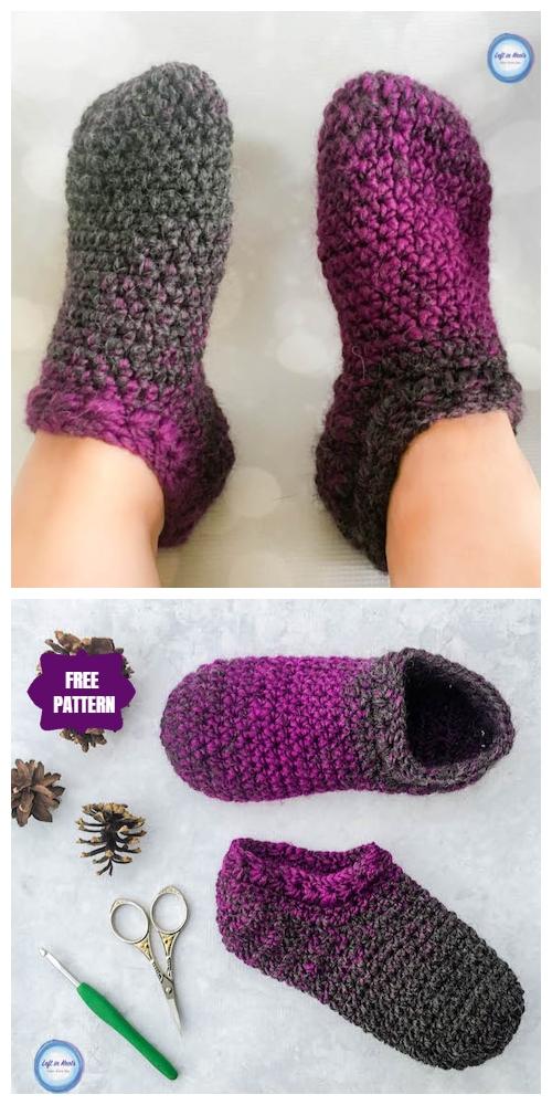 Star Gazers Slipper Socks Mittens Cowl Set Free Crochet Patterns
