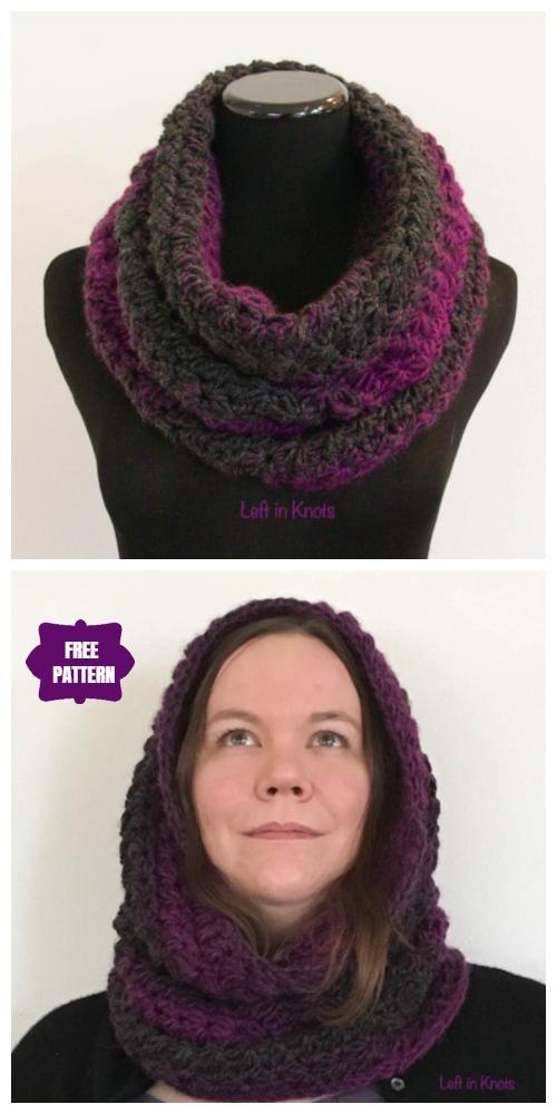 Crochet Star Gazer's Slipper Socks, Mittens & Cowl Set Free Crochet Patterns