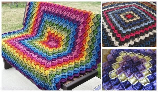 Crochet The Wool Eater Blanket Free Crochet Pattern -Video