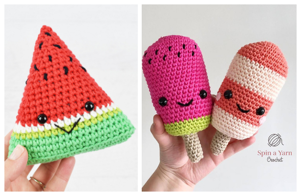 Crochet Watermelon Doll Toy Amigurumi Free Patterns