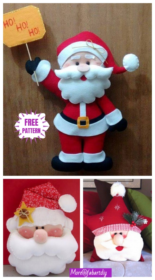 DIY Santa Clause Sew Free Patterns