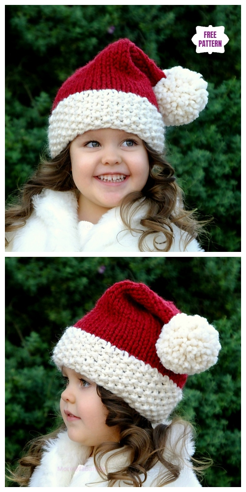 Knit Cutie Christmas Santa Hat Free Knitting Pattern