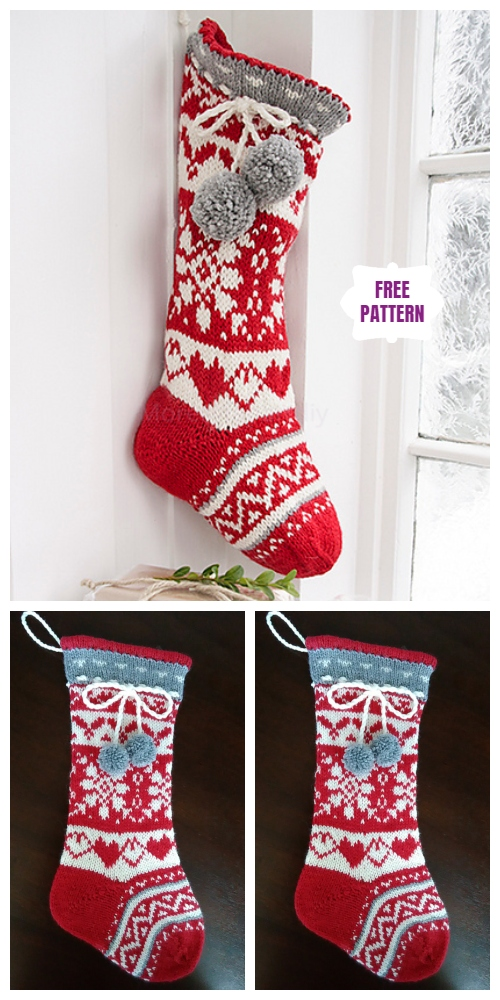 Knit Sweet Treasures Christmas Stocking Free Knitting Pattern
