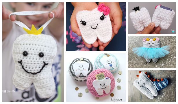 Sweet Tooth Fairy Pillow Pouch Free Crochet Patterns