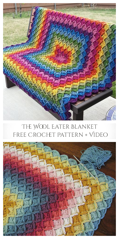 The Wool Eater Blanket Free Crochet Pattern + Video