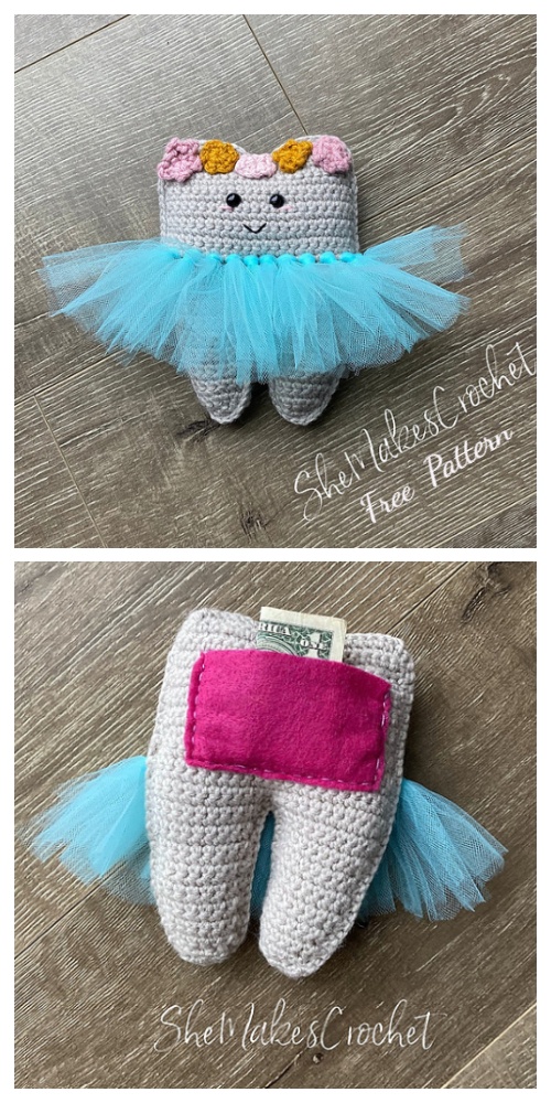 Sweet Tooth Fairy Pillow Free Crochet Patterns