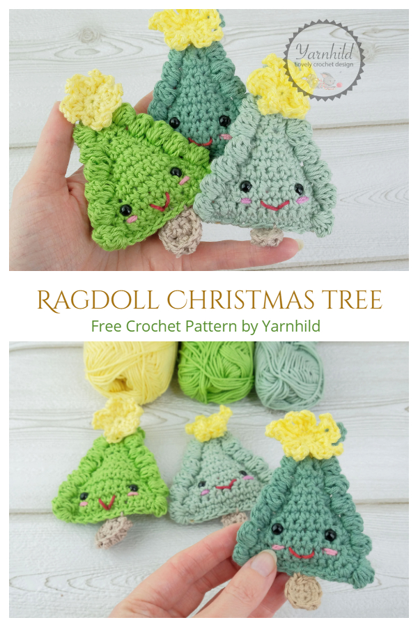 Ragdoll Christmas Tree Ornament Free Crochet Patterns