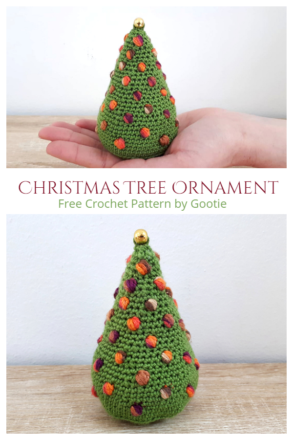 Puff Stitch Christmas Tree Ornament Free Crochet Patterns