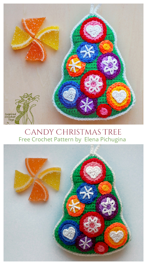 Candy Christmas Tree Ornament Free Crochet Patterns