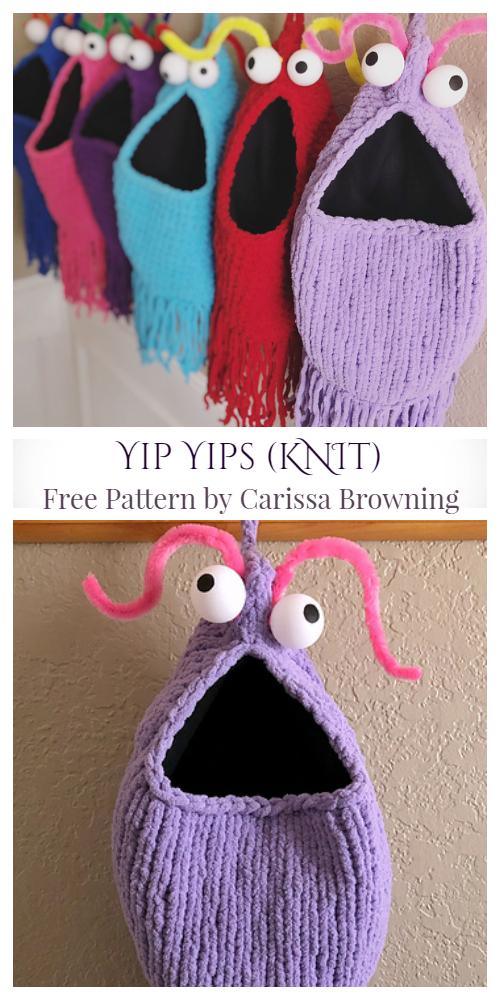 Yip Yips Hanging Basket Free Knitting Pattern