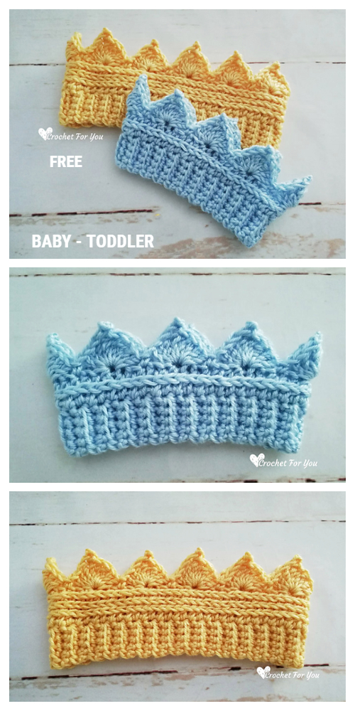 Baby Crown Ear Warmer Free Crochet Pattern