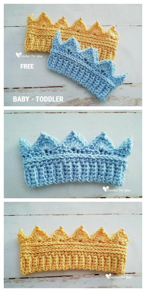 Baby Crown Ear Warmer Free Crochet Pattern