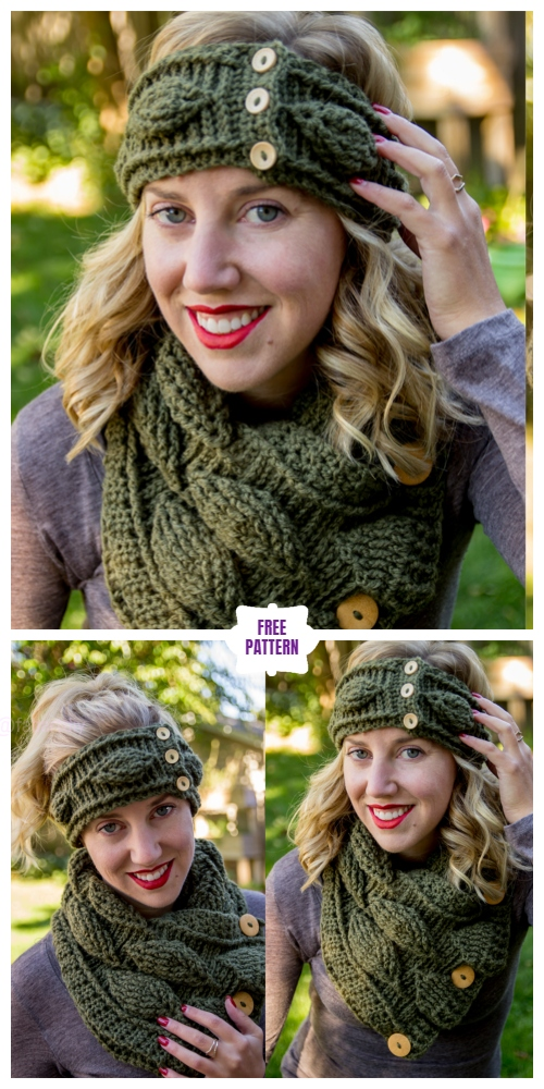 Crochet Autumn Leaf Beanie & Headband Set Free Crochet Patterns