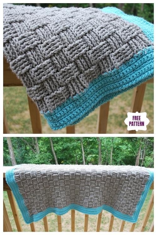 Crochet Basket Weave Baby Blanket Free Crochet Pattern