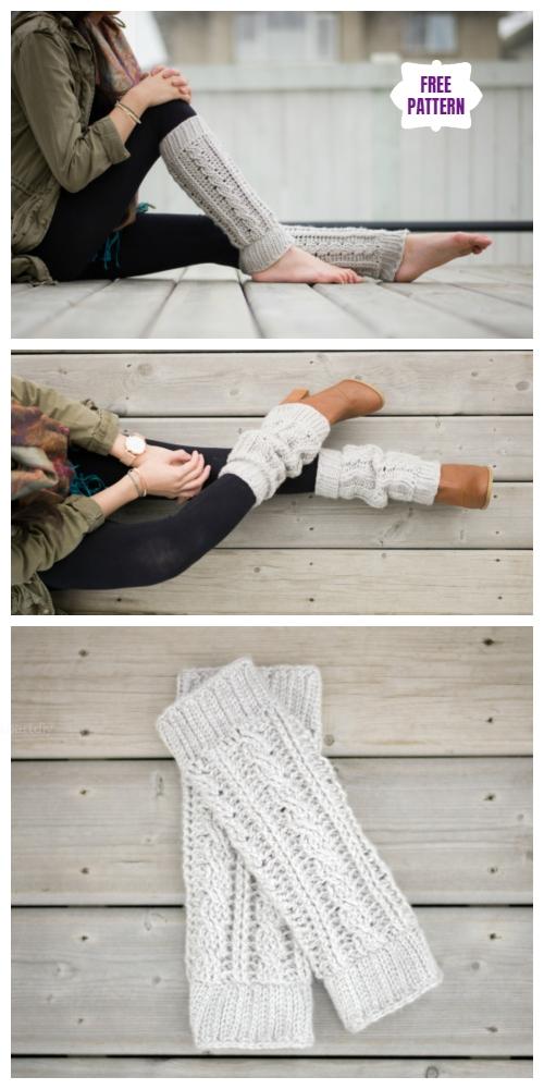 Crochet Cabled Leg Warmer Free Crochet Patterns