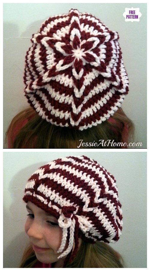 Crochet Delia Slouch Hat Free Crochet Pattern