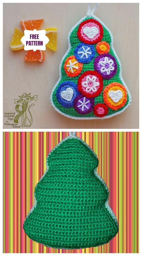 Crochet Mini Christmas Tree Ornament Free Crochet Patterns