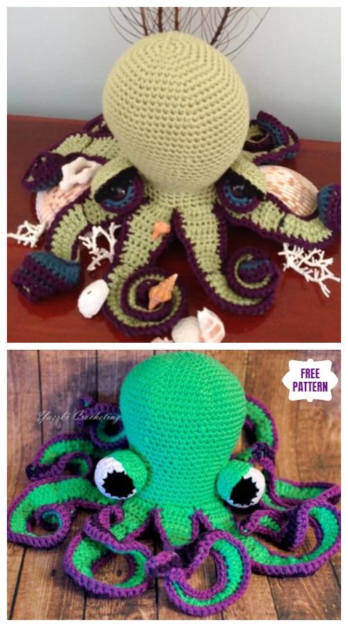 Crochet Octavia the Octopus Amigurumi Free Pattern