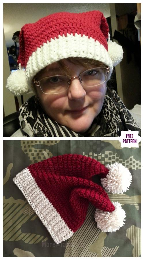 Crochet Santa Sack Hat Free Crochet Pattern