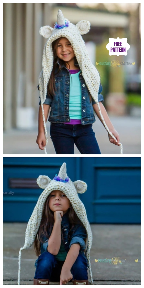 Crochet Unicorn Hood Free Crochet Patterns