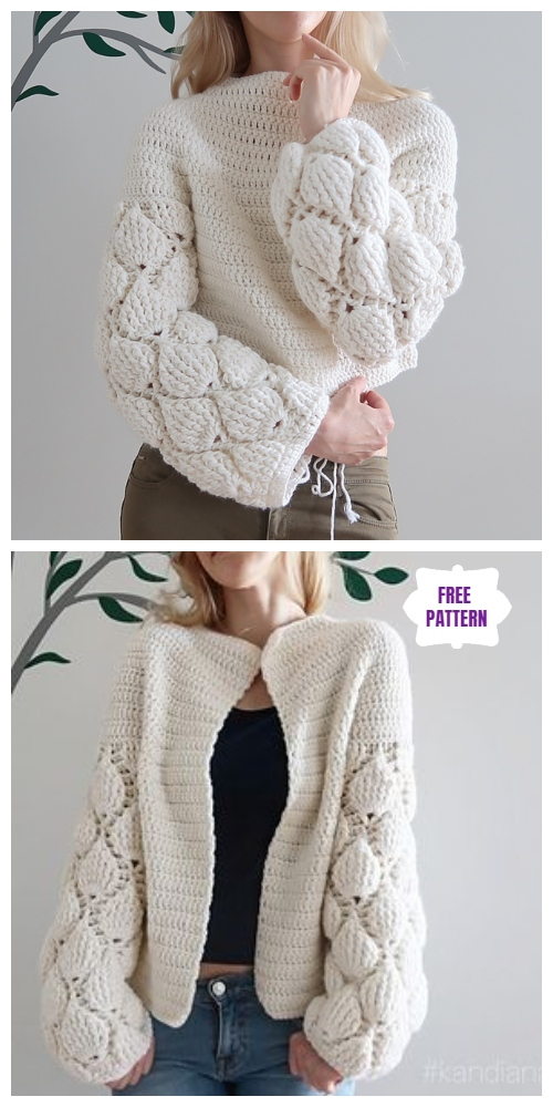Crochet Women Cardigan Figs Free Crochet Pattern - Video